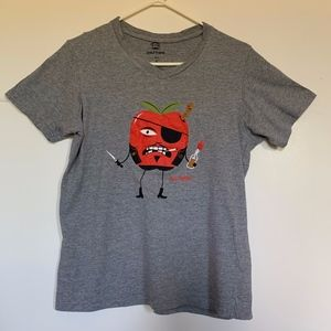 "Paul Frank ""Bad Apple"" Graphic Tee V-neck Men's SM"